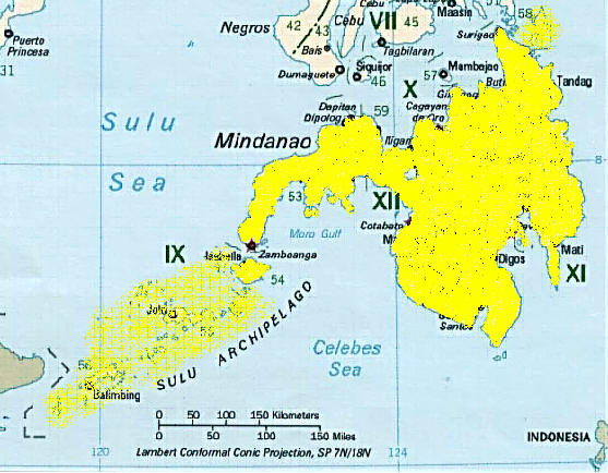 Map Island Of Mindanao