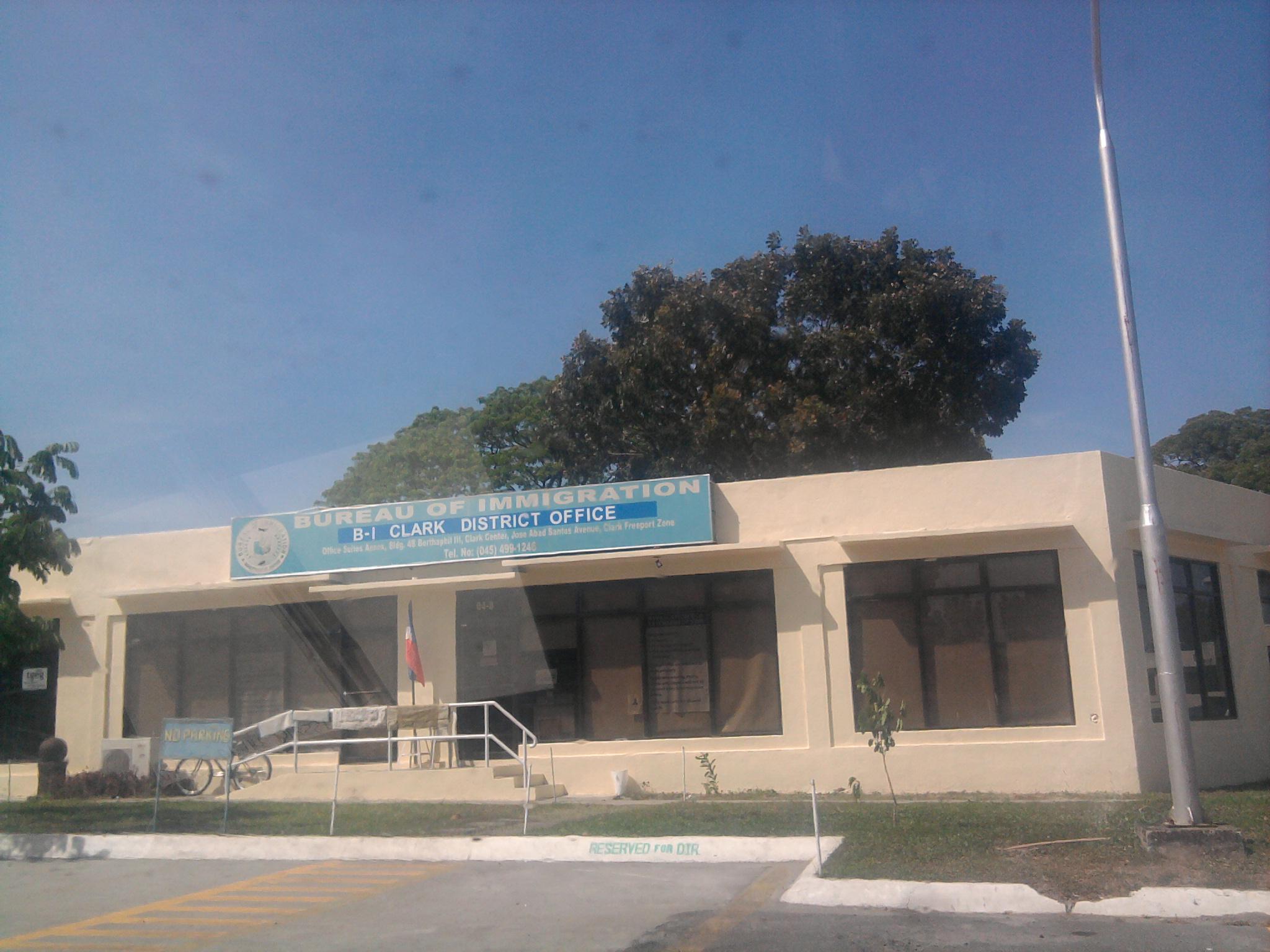 File bureau of immigration clark field angeles city pampanga g