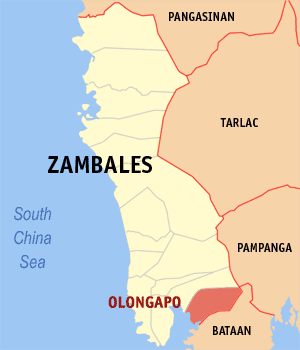 Olongapo city map locator.png