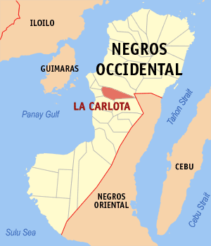 La carlota negros occidental map locator.png