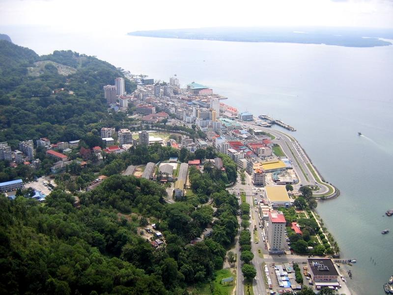 Aerial View Sandakan Sabah Malaysia