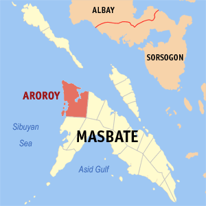 Aroroy masbate map locator.png