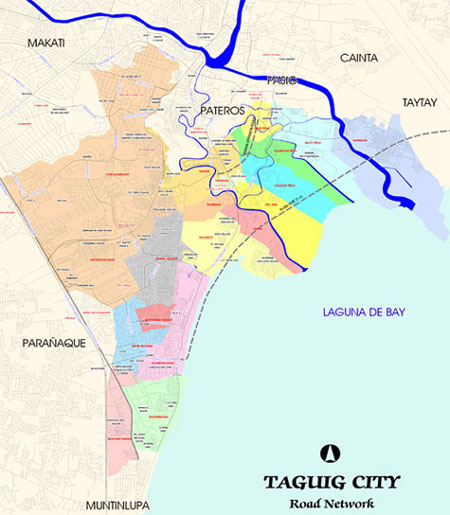 Map Taguig Philippines Taguig City Map