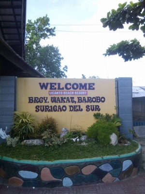 Welcome sign to Wakat, Barobo, Surigao del Sur.jpg