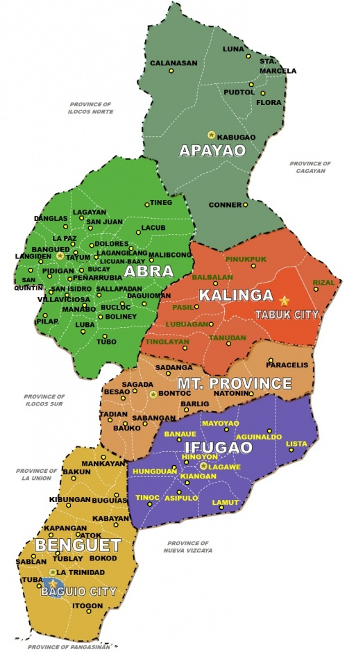 the cordillera administrative region profile The cordillera administrative region encompasses most of the areas within the cordillera central mountains of luzon, the largest mountain range in the country it is the country's only land-locked region .