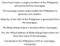 President does not promote the Barangays.png