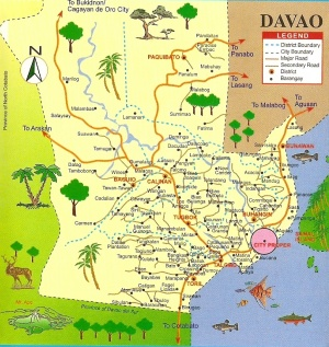 Davao City District 1 Map
