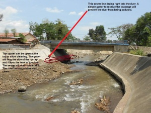 Talomo River embankment (protection) project, Calinan Proper, Davao City with gutter system.jpg