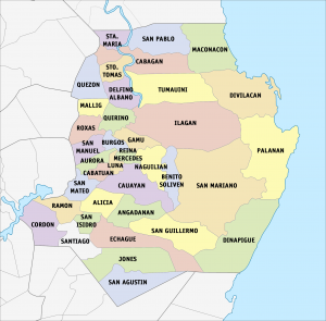 Municipalities in Isabela province.png