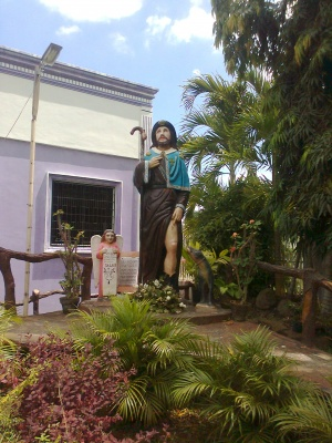 Statue of san roque in santuario de san roque zamboanga city.jpg