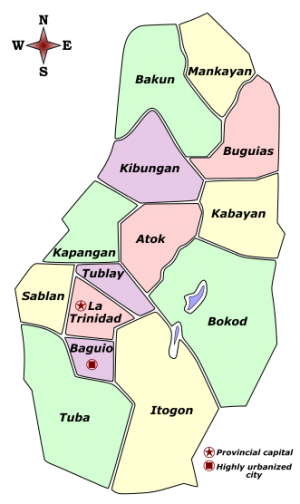 Benguet Municipalities and cities.png